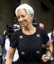 Christine Lagarde after IMF meetings ©Jim Watson/AFP