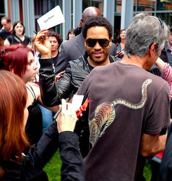 Lenny Kravitz signs autographs in Paris. 2009 photo ©willemdevos