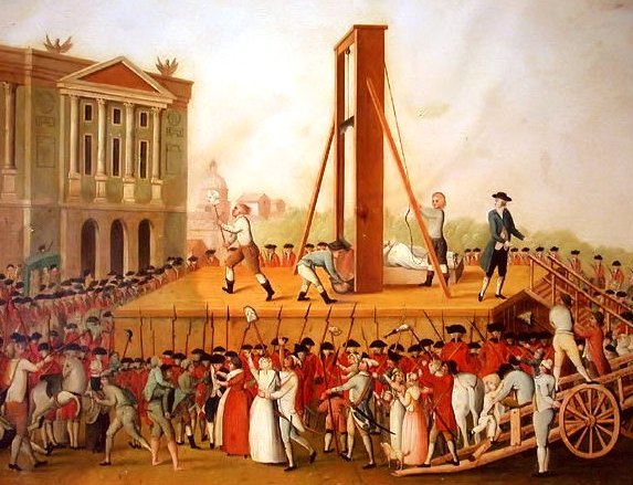 The execution of Marie-Antoinette, 1793.