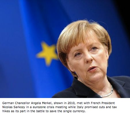 German Chancellor Merkel.  Photo credit: AFP-France 24