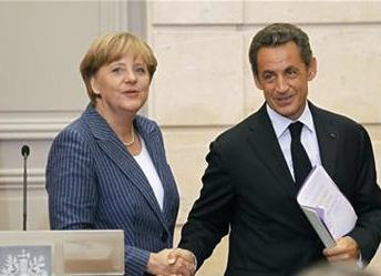 German Chancellor Angela Merkel and France President Nicolas Sarkozy on October 14. PHoto: ReutersUK