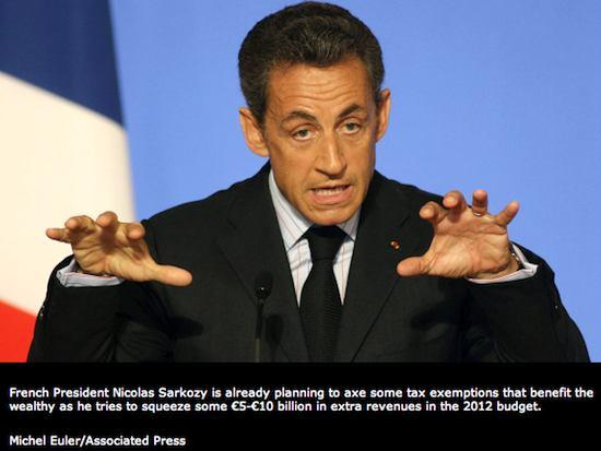 President Nicolas Sarkozy. Photo credit: Michel Euler/AP