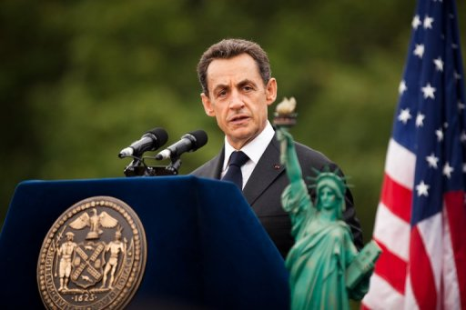 Sarkozy in NY. Photo © AFP/Getty Images-Daniel Berehulak