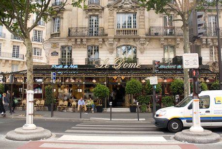 Le Dome, famous Montparnasse restaurant.