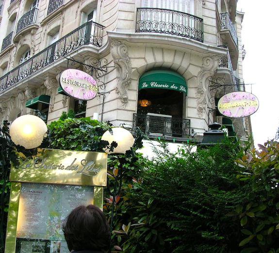 Closerie des Lilas, famous Montparnasse restaurant. Publicity photo.