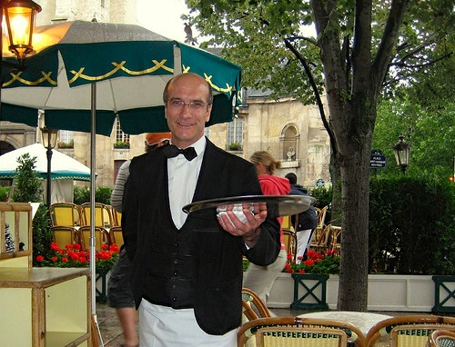 Waiter at les Deux Magots, Paris 6th.