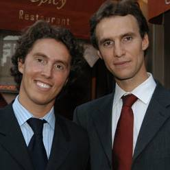 Jean-Philippe (L) and Pierre-Francois Blanc, owners