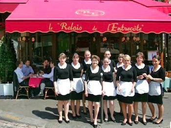 Publicity photo courtesy Le Relais de l'Entrecote