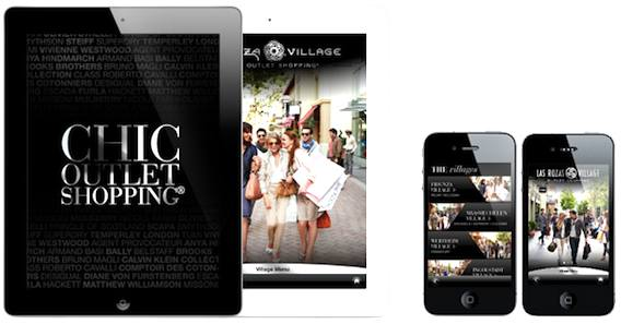La Vallee Village free shopping app. Publicity photo