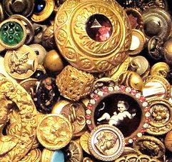 antique flea market buttons