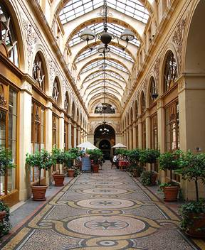 Galerie Vivienne, one of several Paris covered passages.