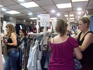 try on clothing in the aisles, as normal at SYMPA