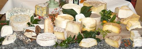 French restaurant cheese cart.
