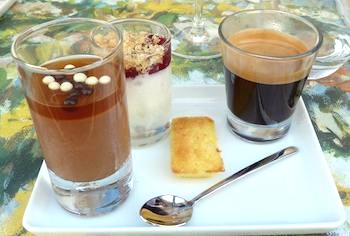 Cafe gourmand at La Table d'Eugene. Photo: Marie Z. Johnston