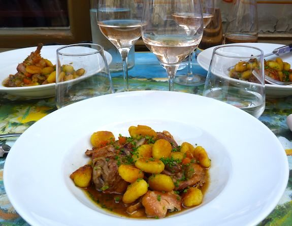 Fricassée of Chicken with gnocchi in a cider sauce. Photo: Marie Z. Johnston