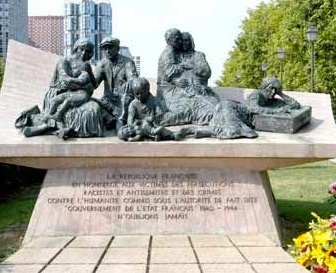 Place des martyrs Juifs du Velodrome d'Hiver monument