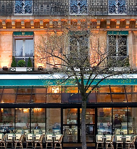 Cafe Deux Magots in February. Photo by Rita Crane Photography