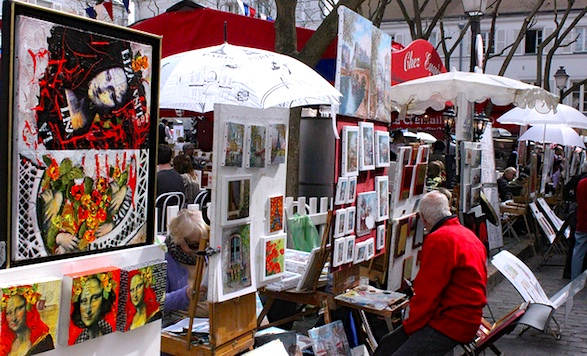 Place du Tertre artists. Photo by hazboy.