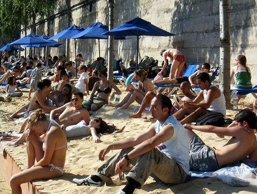 Paris Plage in August ©Nik-in-Paris