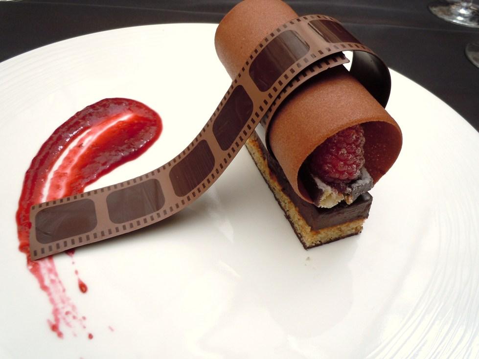 """dessert """"Le Cinema"""" at Café Lumière"""