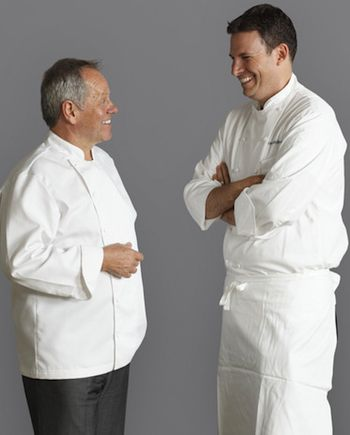Wolfgang Puck & Executive Chef David McIntyre of CUT, London.