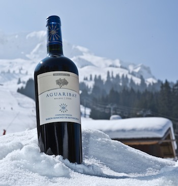 La Compagnie Vinicole Edmond de Rothschild wine against Mont Blanc. Photo Philippe Jeanette