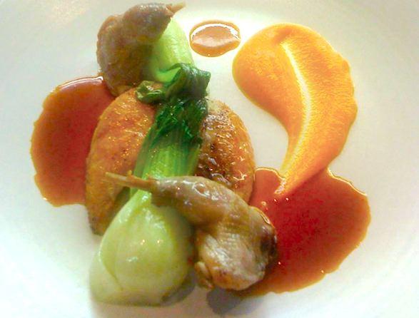 FL-Restaurant's Perdix rouge, les suprême rôtis, les cuisses confites, mousseline de patates douces et choux pack choy. PR photo.