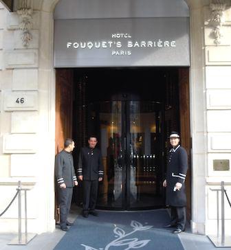 Hôtel Fouquet's Barrière doormen. Photo: M. Kemp