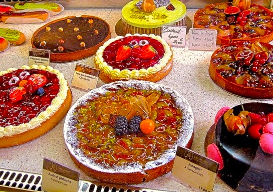 Pastry case at a Kayser boutique.