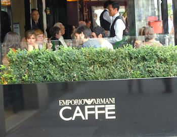 Emporio Armani Caffe.   Photo credit:  M. Kemp