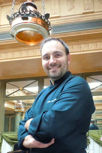 Chef Julien Montabut of L'Hotel. Photo: M. Kemp