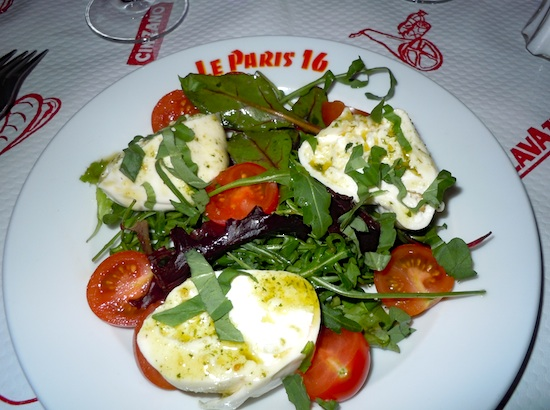Le Paris 16 burrata salad. Photo by M. Kemp.