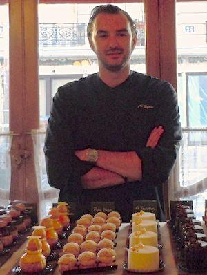 Cyril Lignac shows off his pâtisseries. Photo: M. Kemp