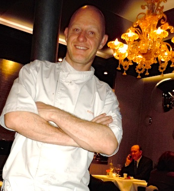 Laurent Jazac of Mazan restaurant. Photo by M. Kemp.