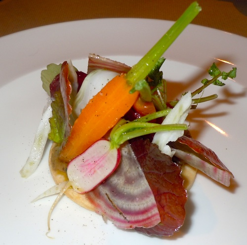 Tarte fine aux légumes. Photo by M. Kemp.