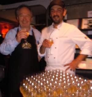 Jean-Claude Schpoliansky and Jacky Ribault at Le Balzac. Photo: M. Kemp