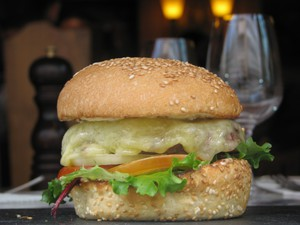 "Maison d'Aubrac ""Aubrac Burger"" photo by Margaret Kemp"