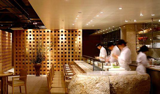 Sushi bar at Zuma Restaurant. Publicity photo.