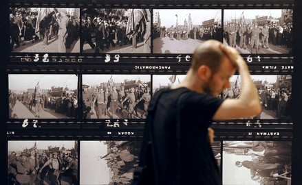 ©Getty Images photo of Capa Exhibit in Arles