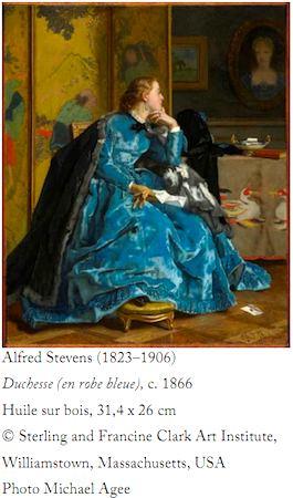 Alfred Stevens, Duchesse (en robe bleue). ©Sterling & Francine Clark Art Institute