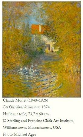 Monet, Les Oies dans le ruisseau. ©Sterling & Francine Clark Art Institute.