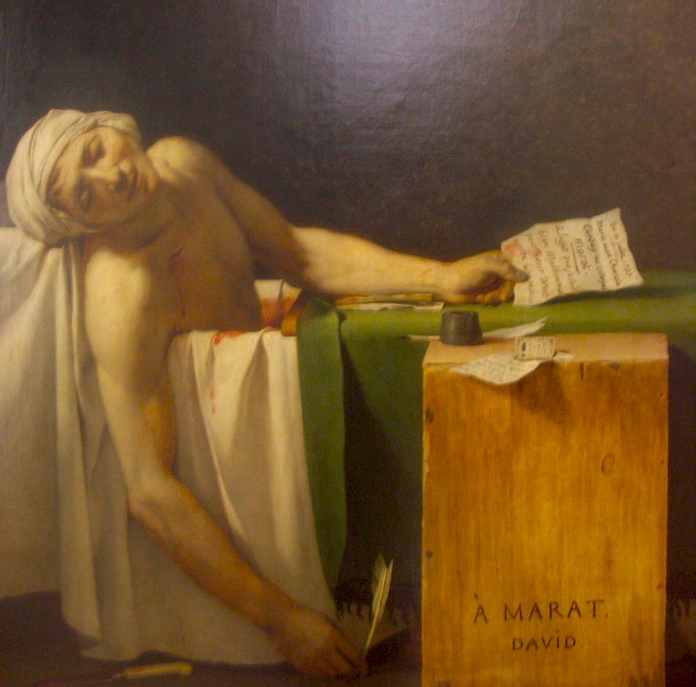 The Death of Marat by Jacques-Louis David. Photo courtesy of bixentro