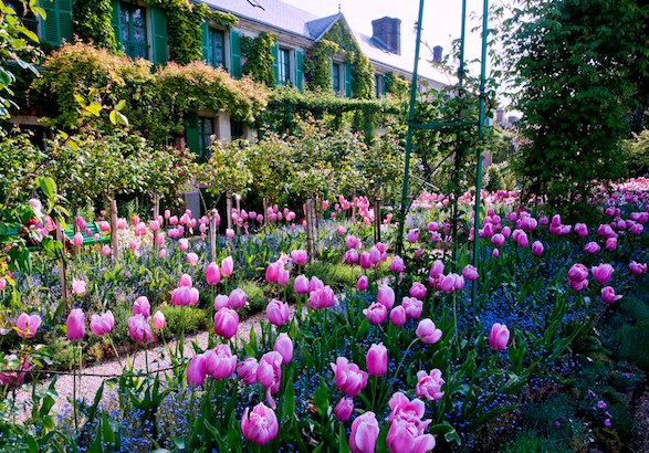 Monet's residence at Giverny in spring.