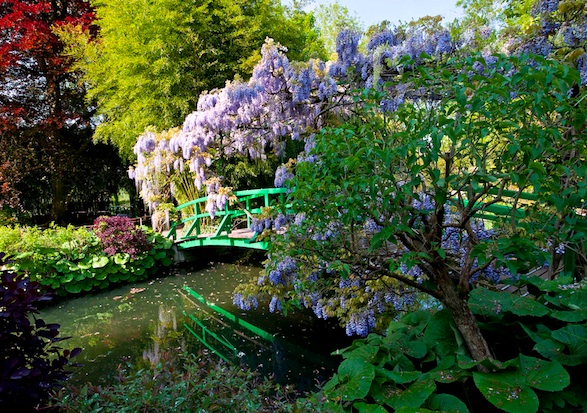Bridge on the Japanese water lily pond at Giverny.