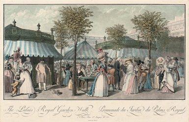Palais-Royal gardens, circa 1787. Public domain image.