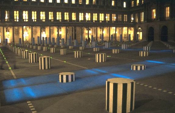 Daniel Buren art installation at Palais-Royal. Photo: ibiblio