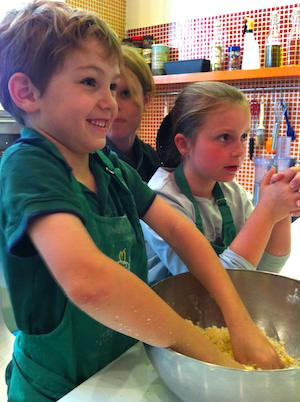 Children at cooking class in Montmartre. Photo: ©Lexy Delorme.