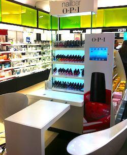 OPI nailbar at Paris Sephora store. Photo: Lexy Delorme