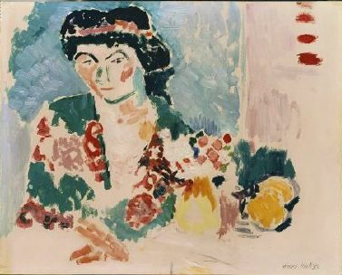 Henri Matisse, Femme en Kimono, v. 1906. Huile sur toile, 80.65 x 59.69 cm. The Courtauld Gallery, Londres, Grande Bretagne. ©Succession H. Matisse. Photo : The Courtauld Gallery, London, 2011