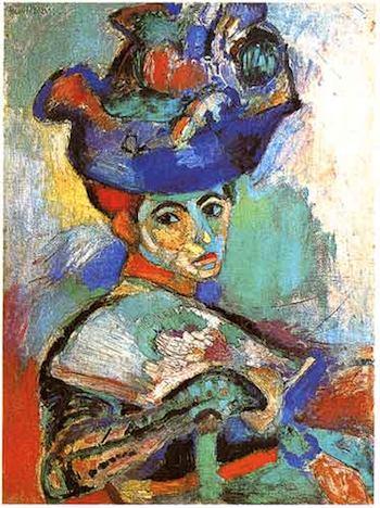Henri Matisse, Femme au chapeau, 1905. Huile sur toile, 80.65 x 59.69 cm. San Francisco Museum of Modern Art, don d'Elise S. Haas, San Francisco, USA. ©Succession H. Matisse. Photo : Moma, San Francisco, 2011